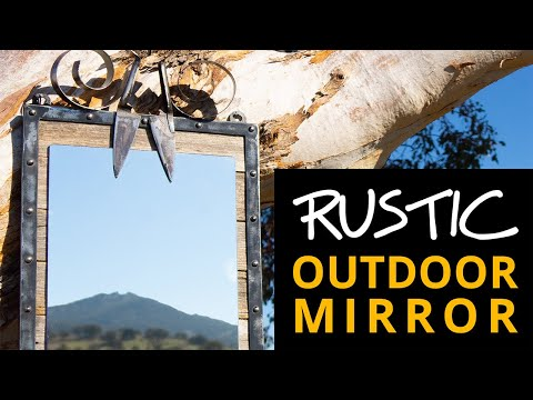 Make a rustic DIY mirror frame in steel and timber