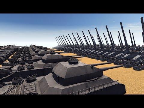 P1000 RATTE vs 800MM GUSTAV GUN - Men of War Assault Squad 2 |