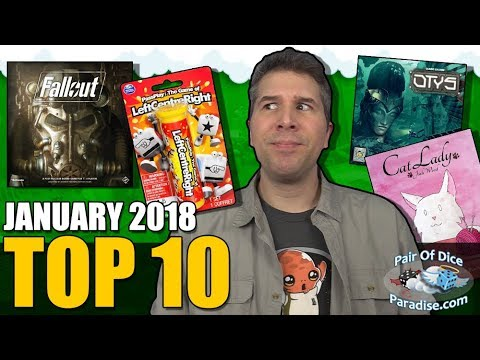 Top 10 most popular board games: January 2018
