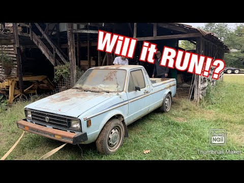 Barn Find VW Rabbit Golf Pickup Sitting For 25 Years! :Rebuild Part 1