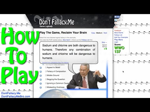 Don't Fallacy Me Bro - Logic Game for Critical Thinking