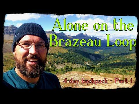 Solo multi-day backpack hike to: Poboktan Pass - Brazeau Lake - Nigel Pass (Part 1)
