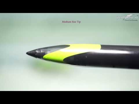 Uniball Air  Model: 13877 UBA-188EL-M micro green color body with black clip cap type gel pen