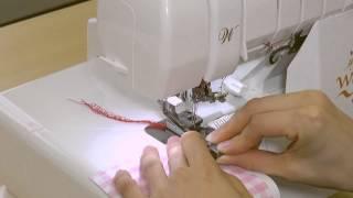 セパレート押えの使い方:ギャザーを寄せながら縫い合わせる