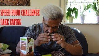 Cake Speed Eating Challenge || IsiFit