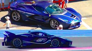 BLUE Ferrari FXX-K and Ferrari LaFerrari - Ferrari Racing Days