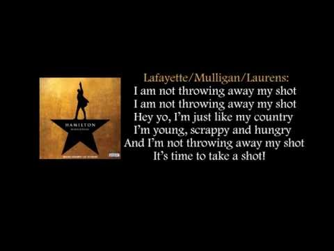 Hamilton - My Shot lyrics