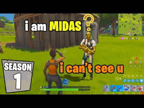 I Pretended I Went Back To SEASON 1 In Fortnite