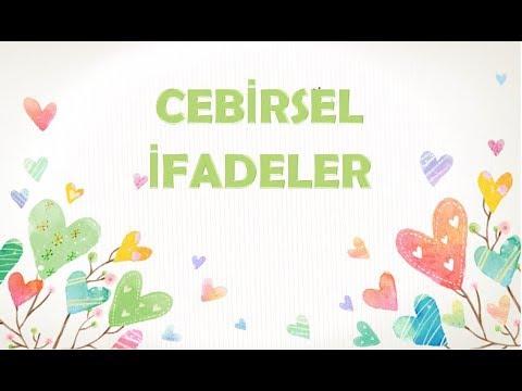 CEBİRSEL İFADELER-8. SINIF MATEMATİK