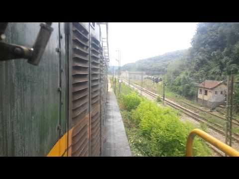 661 243 Train Driver's view: railroad in Serbia from Prokop to Rakovica - SERBIAN RAILWAYS