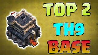 TOP 2 TH9 (Town Hall 9) World Record Defence | TH9 Mega Troll War Base - Clash of Clans - COC