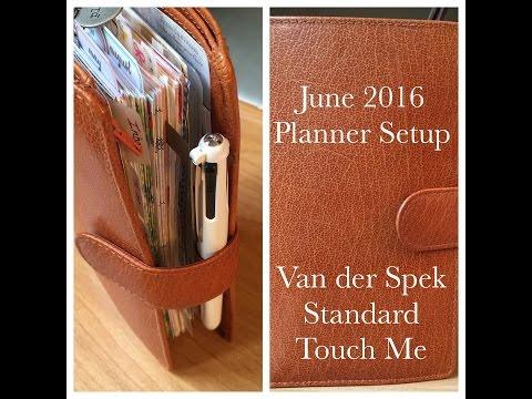 June 2016 Planner Setup - Van der Spek Standard Touch Me