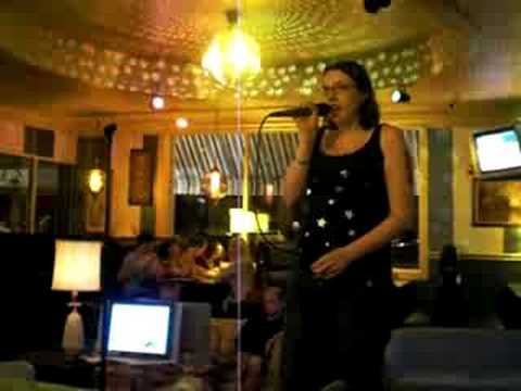 """Me singing """"I Love Rock and Roll"""" at the ChatterBox St.Paul"""
