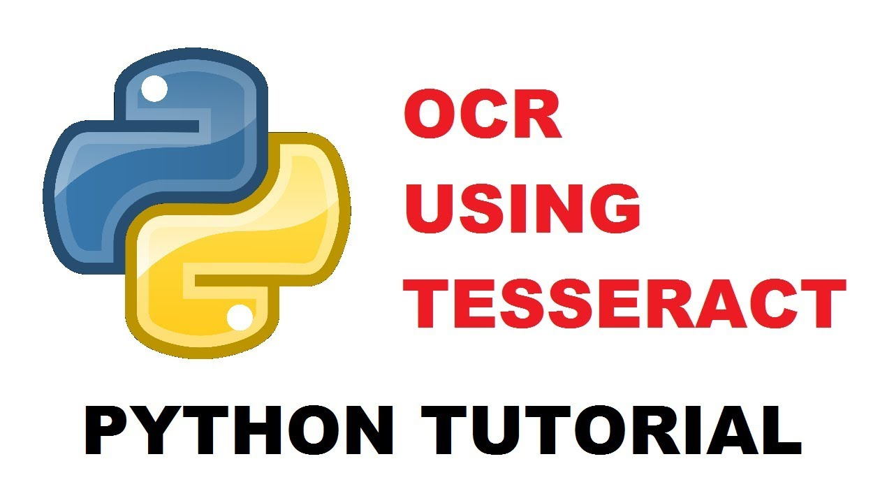 OCR using tesseract and Python | Python OCR