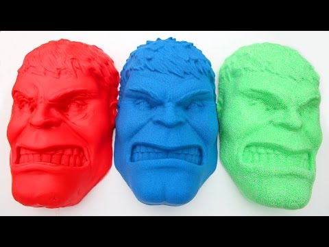 Kinetic Sand VS Kinetic Foam VS Play Doh Hulk DIY SuperHeroes PJ Masks Play Doh