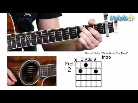 "How to Play ""What Hurts the Most"" by Rascal Flatts on Guitar (Whole Lesson)"