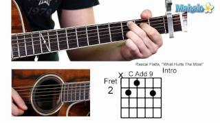 How to Play What Hurts the Most by Rascal Flatts on Guitar (Whole Lesson)