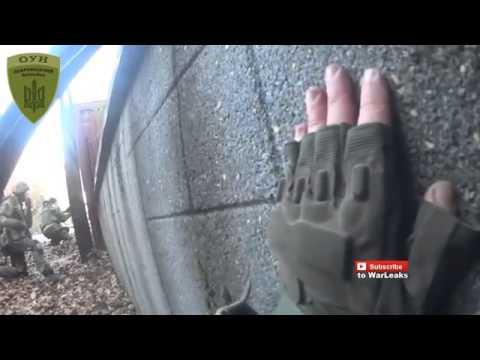 Ukraine War   Ukrainian Paramilitary In Heavy Intense Helmet Cam Firefight Near Donetsk Airport
