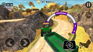 Tractor Cargo Transport Driver Farming Simulator - Blue Tractor Driving Mission 9 - Android Gameplay screenshot 2