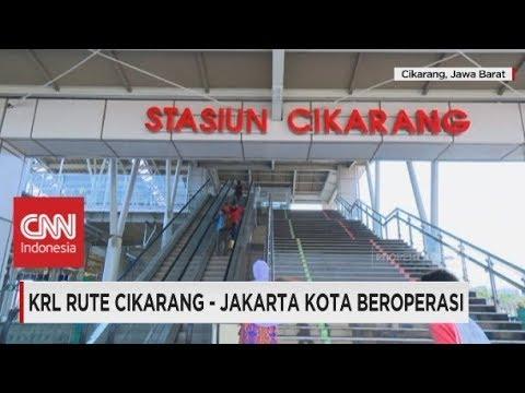 KRL Rute Cikarang - Jakarta Kota Beroperasi, Bekasi  - Jakarta Makin Lancar
