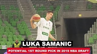 Croatian Power Forward Prospect Luka Samanic Pregame Workout