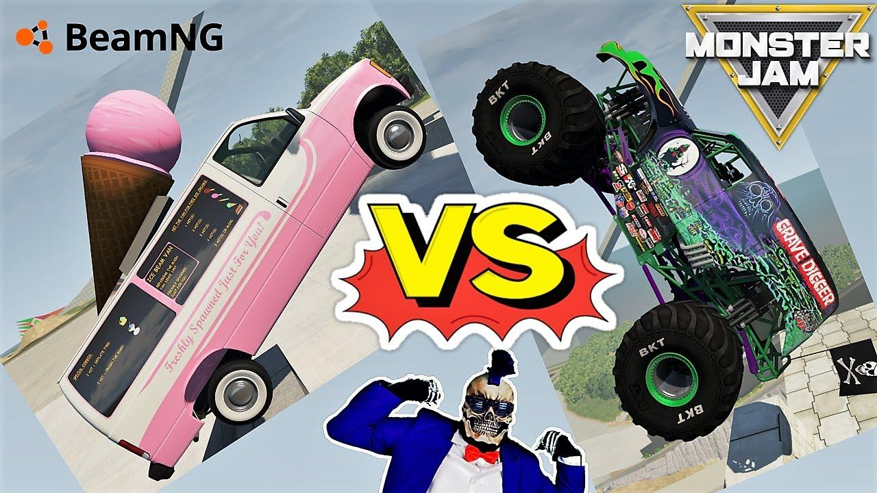 Monster Jam Monster Trucks vs Real Cars | Video Game Freestyle