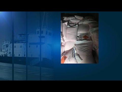 Greek coastguard intercepts ship carrying explosive materials