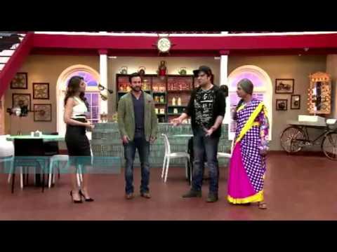 Saif-Ileana Happy Ending Promoting On Set@Comedy Classes TV Show!