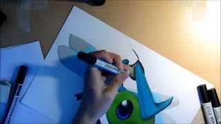 Speed drawing: Shiny Yanma