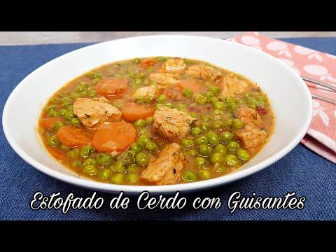 Estofado de Magro con Guisantes y Verduras / FÁCIL Y SALUDABLE