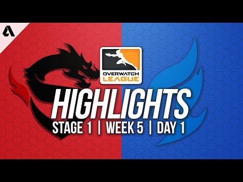 Shanghai Dragons vs Dallas Fuel ft Taimou Seagull | Overwatch League Highlights OWL Week 5 Day 1
