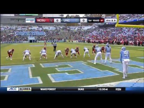 North Carolina One Yard Punt vs NC State
