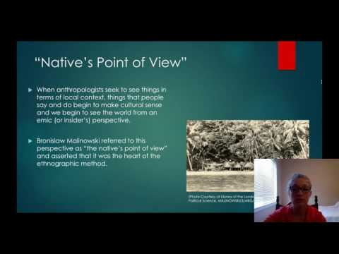 The Native's Point of View in Anthropological Fieldwork