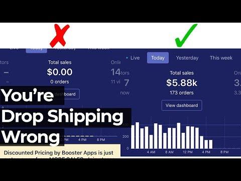 You're Drop Shipping Wrong | Shopify Dropshipping 2019
