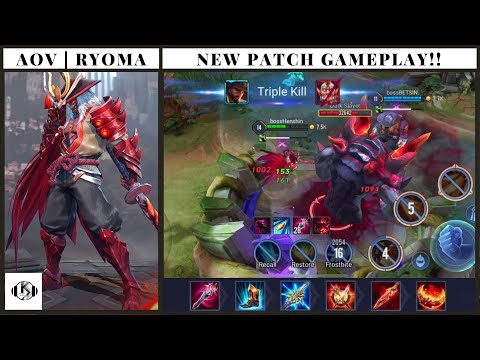 AOV | ARENA OF VALOR RYOMA NEW PATCH JUNGLE GAMEPLAY!!