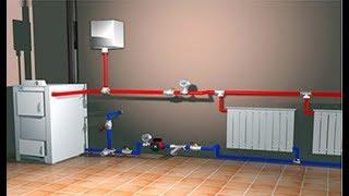 как сделать водяное отопление в двухэтажном доме своими руками