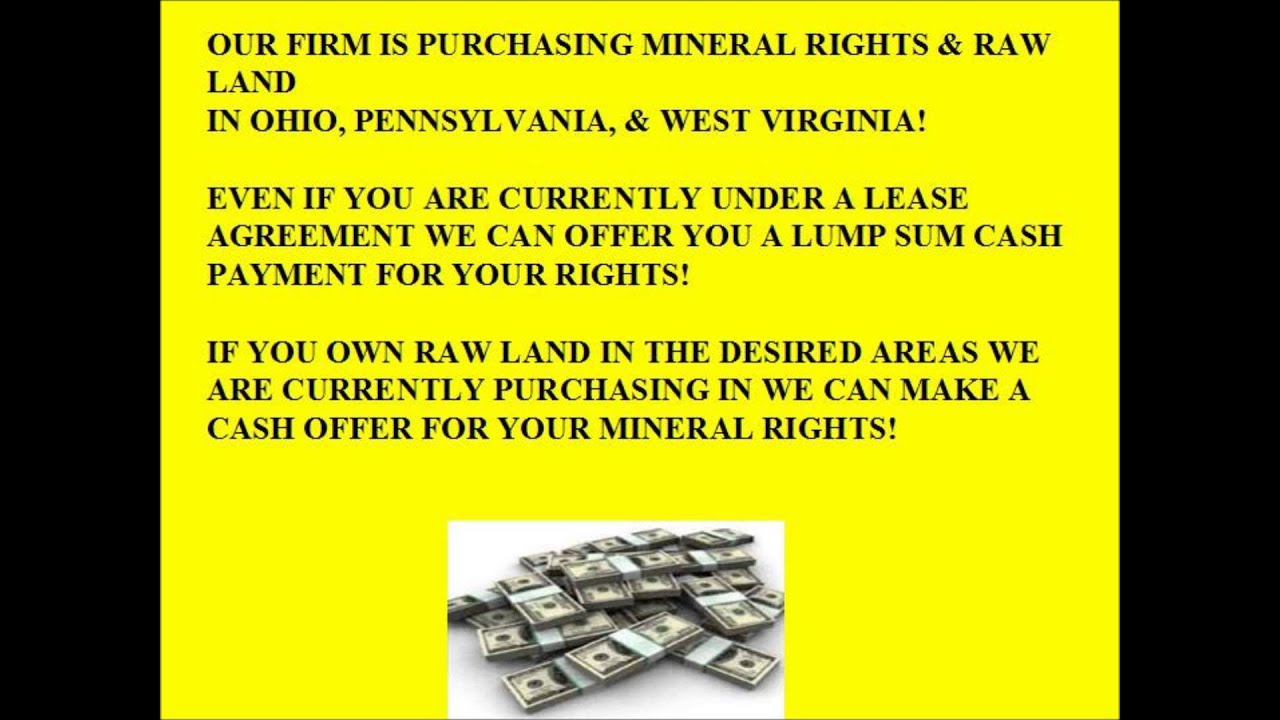 We Buy Mineral Rights In Ohio Pennsylvania West Virginia Youtube