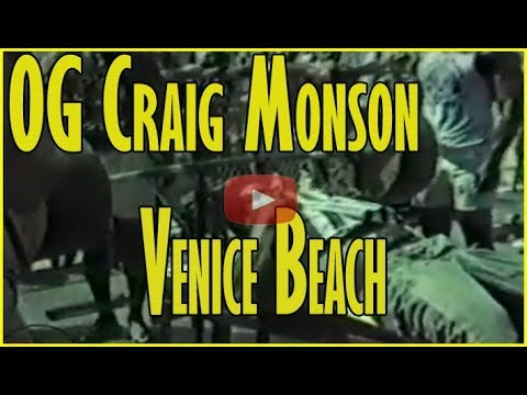 Craig Monson working out at Venice Beach in 1985
