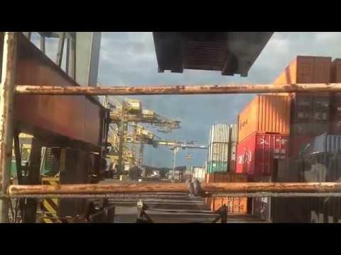 Big ship at port botany