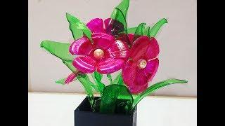 Plastic bottle flowers|Best use of waste plastic bottles|Best out of waste