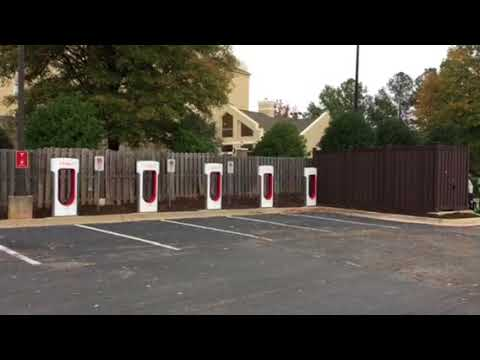 Tesla Supercharger At Hilton Garden Inn Augusta Georgia Youtube