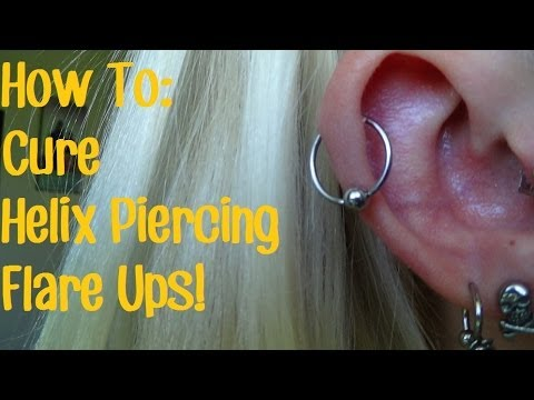 how to make a cartilage piercing heal faster