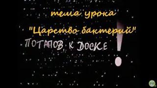 """тема урока """"Царство бактерий"""" из к/ф """"Потапов, к доске"""" 2007 г."""