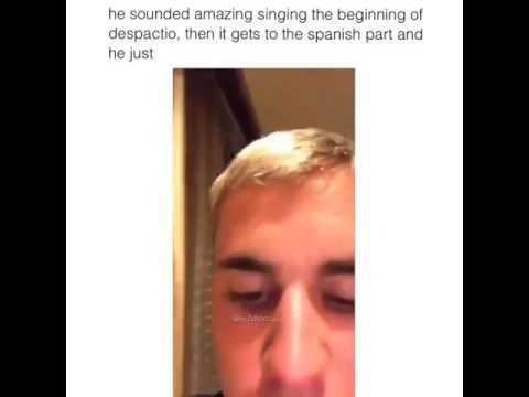 Justin Bieber singing despicito