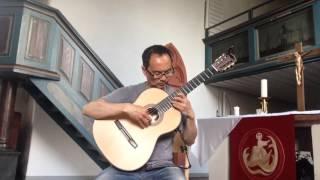 J.S.Bach: Fugue (BWV 1000) for Lute Solo arranged for guitar