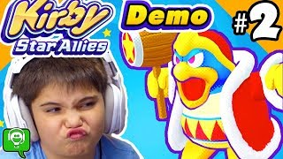 KIRBY Star Allies Demo Part 2 with Dedede Boss!
