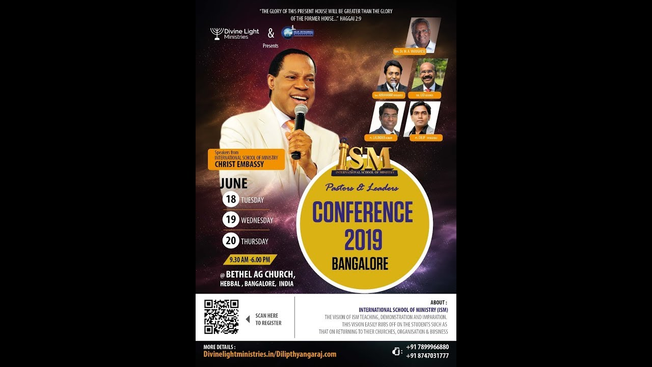 Pastors and Leaders Conference- ISM - Bangalore - June - 2019