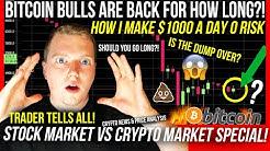 BITCOIN BULLS ARE BACK?! BITCOIN VS STOCK MARKET! BTC & ETH ANALYSIS! $1000 A DAY 0 RISK 👀BITCOIN TA