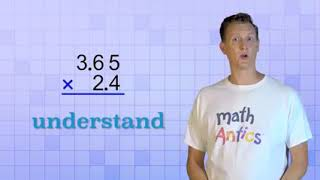Math Antics Decimal Multiplication