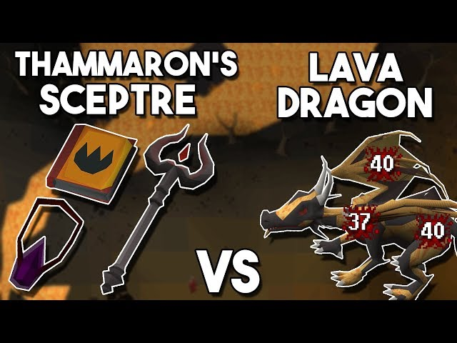 Testing the Thammarons Scepter VS Lava Dragons! Tome of Fire, Occult Necklace and Thammaron![OSRS]